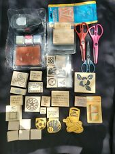 Scrapbooking Stamp Lot Scizzors Tag Punch