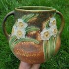 EXCEPTONAL Vintage Roseville FOIL LABEL Pottery Jonquil Flower Bell VASE 526-6