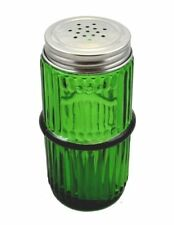Green Mission Style Glass Spice Jar with Lid - Hoosier, Sellers cabinet antiq...