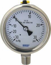 New Wika - 2-1/2 Inch Dial, 1/4 Inch, 30-0-30 Scale Range Pressure Gauge
