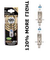 NEW H1 Ring XENON ULTIMA Car Headlight Bulbs + 120% Brighter H1  Pair