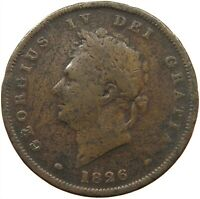 GREAT BRITAIN PENNY 1826 GEORGE IV. #s22 349