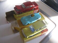 DINKY 238 130 141 ORIGINALS AS SHOWN  IN GOOD WORN ORIGINAL AGE WORN BOXES