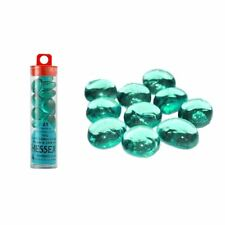 Chessex Teal Glass Counters 22 or More in Clear Tube CHX 01146