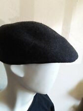 men's size L/XL charcoal gray 100% Wool carrimac hat cabby cap