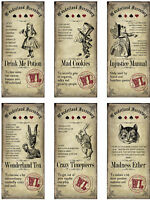 Alice In Wonderland Labels / Tickets Card Topper - Crafts Embellishment Glossy