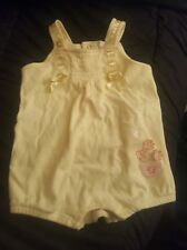 Yellow romper girls 6-9 months by First Moments Layette