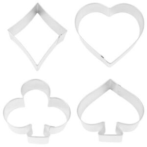 4 Casino Night Card Suit Cookie Cutters   Casino Party Supplies Decoration