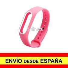 Correa Recambio para XIAOMI MI BAND 2 Pulsera Ajustable Rosa-Blanco a2926