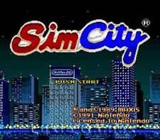 Simcity - SNES Super Nintendo Game Sim City