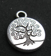 Silver TREE OF LIFE  Pendant GODDESS Wicca Supplies Jewelry Pagan Charm Vintage