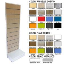 Espositore dogato monofronte con pannello dogato in vari colori e telaio metallo