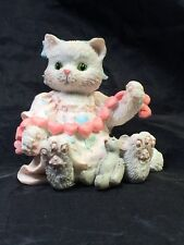"""Calico Kittens """"A Good Friend Warms The Heart"""" Cat figurine 1992"""