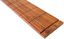 "Bubinga guitar fretboard, fingerboard 25.5"" Fender ® scale, slotted R9.5"""