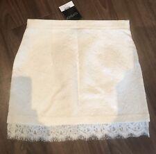 Topshop White Mini Skirt Eyelash Lace UK Size 10 BNWT