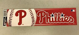 Philadelphia Phillies Vibrant Official MLB Team Logo Bumper Sticker Decal Decor