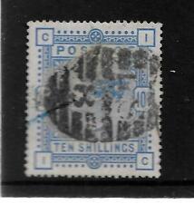 QUEEN VICTORIA 1884 10/- ULTRAMARINE LD8 DUPLEX BLUE CRAYON LINE SG 183 141A