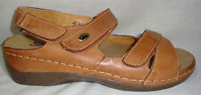 Spring Step Radiance Solid Tan Leather Low Comfort Sandals/Shoes 42 or 11 M NEW