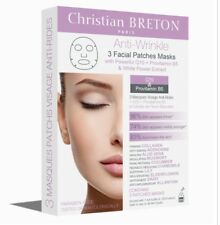 CHRISTIAN BRETON ANTI-WRINKLE 3 X FACIAL PATCHES MASKS WITH Q10 & B5 Brand New