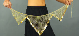 Metal Gold Heavy Quality Coin Dancing Belt Belly dance Bollywood Devs Costumes