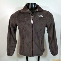 The NORTH FACE Fleece Polyester Jacket Womens Size S Brown zippered
