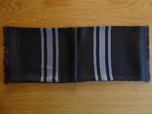 flotter brauner Krawattenschal, Reine Seide, UNISEX, 170 cm x 16 cm