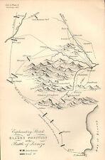 GUERRA D'INDIPENDENZA SPAGNOLA Mappa/piano di battaglia BATTAGLIA ~ Blake posizione nella battaglia di lornoza