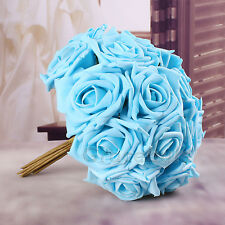 20 Head Real Touch Latex Rose Flowers For wedding Bouquet Decoration 10 Colors