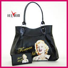 Marilyn Monroe Shoulder Bag & Wallet Set , Fashion Designer Handbag Purse