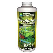 General Hydroponics Floralicious Grow 1 Quart qt 32oz - gh nutrient veg formula