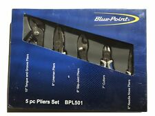 Blue Point 5 Pc Pliers Set BPL501 Bluepoint Sold by Snap on BRAND NEW