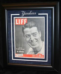 JOE DIMAGGIO MATTED AND FRAMED AUTOGRAPHED 8/1/1949 LIFE MAGAZINE JSA CERTIFIED