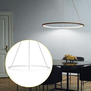 LED Hängeleuchte Esstisch Pendelleuchte Ring Kaffeefarbe silber Esszimmerlampe