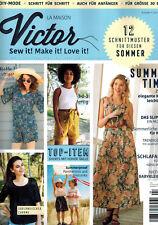 La Maison Victor Ausgabe 4/18 Damen Nähen Schnittmuster Kinder Herren
