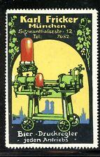 Germany Poster Stamp Bier Druckregler Beer Pressure Regulator Fricker Munich