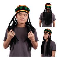 Rhasta Rasta Hat Jamaica Beanie Knit Crochet Slouchy Bob Style Cap Green N3