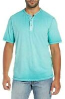 Tommy Bahama Cirrus Coast Henley Short Sleeve Shirt Gulf Shore Green Size 3XLB