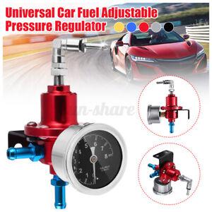 Universal Adjustable Car Fuel Pressure Regulator W/kPa Oil Gauge Kit 0-8  #