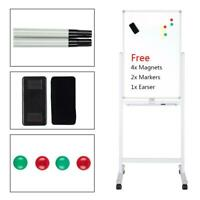 """36"""" Dry Erase Stand Magnetic Double Sided Whiteboard Wheels Multi-Functional"""