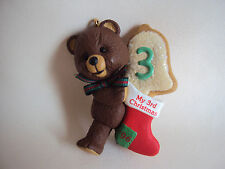 COLLECTIBLE HALLMARK 1996 CHILD'S THIRD CHRISTMAS ORNAMENT IN BOX