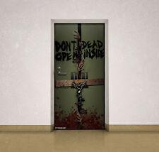 """AMC The Walking Dead """" Dead Inside """" Door Cling TWD Door Decoration - Licensed"""