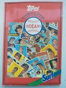 1987  SURF TOPPS  CLEVELAND INDIANS CARDS 1952-1986