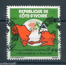 COTE d' IVOIRE, 1984, timbre 679, SPORT, FOOTBALL, SOCCER, oblitéré, VF STAMP