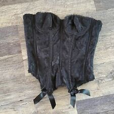 Frederick's of Hollywood black corset lace size 34