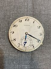 Zenith Movement Pocket Watch Working For Parts Repair