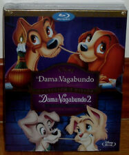 LA DAMA Y EL VAGABUNDO-LA DAMA Y EL VAGABUNDO 2 DISNEY PACK 2 BLU-RAY+DVD NUEVO