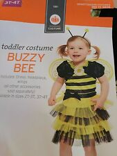 Toddler Girls Buzzy Bee Costumes Baby Child Halloween Costume Size 3T-4T