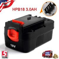 New For Black & Decker HPB18 18V Battery HPB18-OPE 244760-00 A18 Firestorm 3.0Ah
