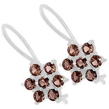 Smoky Quartz 925 Sterling Silver Earrings Jewelry E2303S