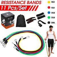New 11Pcs Set Resistance Bands Fitness Training Tubes Workout Exercise Gym Yoga